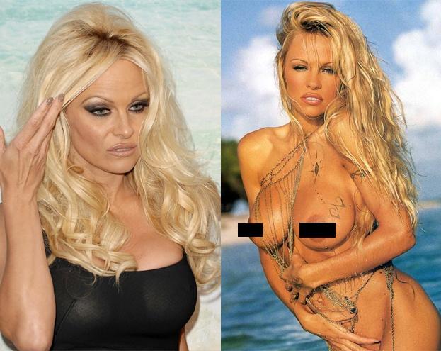 Pamela Anderson stała się gwiazdą dzięki pokazywaniu silikonowych piersi